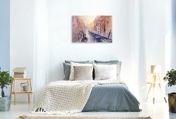 Premium Textil-Leinwand 900 x 600 cm Quer-Format REISEERLEBNISSE in AQUARELL – ECKARD FUNCK   Wandbild, HD-Bild auf Keilrahmen, Fertigbild auf hochwertigem Vlies, Leinwanddruck von ECKARD FUNCK