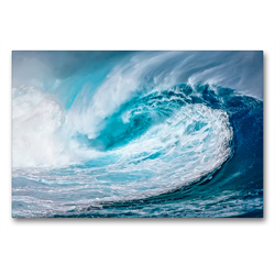 Premium Textil-Leinwand 90 x 60 cm Quer-Format Riesenwelle | Wandbild, HD-Bild auf Keilrahmen, Fertigbild auf hochwertigem Vlies, Leinwanddruck von Peter Roder