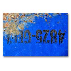 Premium Textil-Leinwand 90 x 60 cm Quer-Format Rostiges Ölfass | Wandbild, HD-Bild auf Keilrahmen, Fertigbild auf hochwertigem Vlies, Leinwanddruck von Anne Madalinski