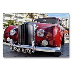 Premium Textil-Leinwand 90 x 60 cm Quer-Format Roter vintage Bentley   Wandbild, HD-Bild auf Keilrahmen, Fertigbild auf hochwertigem Vlies, Leinwanddruck von (c) 2019 by Atlantismedia