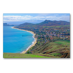 Premium Textil-Leinwand 90 x 60 cm Quer-Format Sandstrand Vila Baleira   Wandbild, HD-Bild auf Keilrahmen, Fertigbild auf hochwertigem Vlies, Leinwanddruck von Klaus Lielischkies