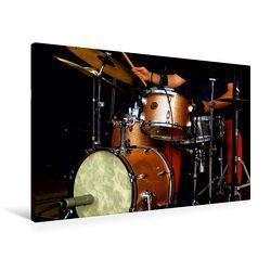 Premium Textil-Leinwand 90 x 60 cm Quer-Format Schlagzeug | Wandbild, HD-Bild auf Keilrahmen, Fertigbild auf hochwertigem Vlies, Leinwanddruck von Renate Bleicher von Bleicher,  Renate