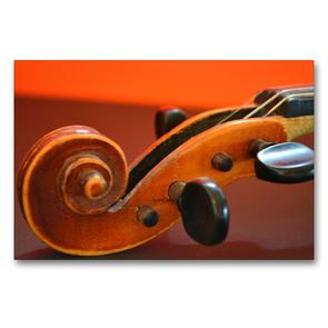 Premium Textil-Leinwand 90 x 60 cm Quer-Format Schnecke einer Geige | Wandbild, HD-Bild auf Keilrahmen, Fertigbild auf hochwertigem Vlies, Leinwanddruck von Renate Bleicher