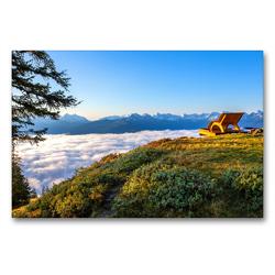 Premium Textil-Leinwand 90 x 60 cm Quer-Format Schöne Grüße aus Radstadt | Wandbild, HD-Bild auf Keilrahmen, Fertigbild auf hochwertigem Vlies, Leinwanddruck von Christa Kramer