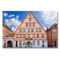 Premium Textil-Leinwand 90 x 60 cm Quer-Format Schwabach Impressionen   Wandbild, HD-Bild auf Keilrahmen, Fertigbild auf hochwertigem Vlies, Leinwanddruck von Dirk Meutzner