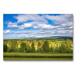 Premium Textil-Leinwand 90 x 60 cm Quer-Format Schwedischer Sommer in Värmland | Wandbild, HD-Bild auf Keilrahmen, Fertigbild auf hochwertigem Vlies, Leinwanddruck von Daniel Burdach