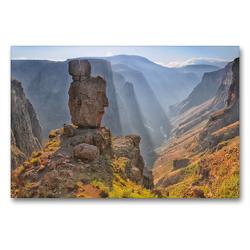 Premium Textil-Leinwand 90 x 60 cm Quer-Format Semonkong, Lesotho, Südafrika | Wandbild, HD-Bild auf Keilrahmen, Fertigbild auf hochwertigem Vlies, Leinwanddruck von Christian Heeb