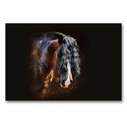 Premium Textil-Leinwand 90 x 60 cm Quer-Format Shirehorse Luis | Wandbild, HD-Bild auf Keilrahmen, Fertigbild auf hochwertigem Vlies, Leinwanddruck von Nicole Bleck