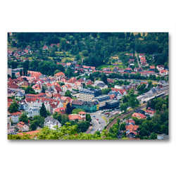 Premium Textil-Leinwand 90 x 60 cm Quer-Format Sicht auf Suhl vom Bismarckturm | Wandbild, HD-Bild auf Keilrahmen, Fertigbild auf hochwertigem Vlies, Leinwanddruck von Val Thoermer