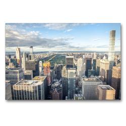 Premium Textil-Leinwand 90 x 60 cm Quer-Format Skyline Upper Manhattan | Wandbild, HD-Bild auf Keilrahmen, Fertigbild auf hochwertigem Vlies, Leinwanddruck von Philipp Blaschke
