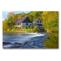 Premium Textil-Leinwand 90 x 60 cm Quer-Format Solingen, Wipperkotten   Wandbild, HD-Bild auf Keilrahmen, Fertigbild auf hochwertigem Vlies, Leinwanddruck von Udo Haafke