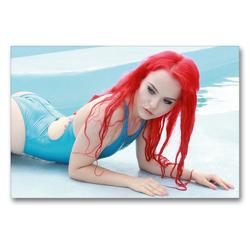 Premium Textil-Leinwand 90 x 60 cm Quer-Format Sommermädchen – Sexy Summer Girls | Wandbild, HD-Bild auf Keilrahmen, Fertigbild auf hochwertigem Vlies, Leinwanddruck von Andy Bulls