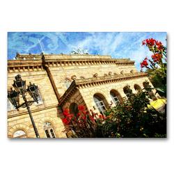 Premium Textil-Leinwand 90 x 60 cm Quer-Format Staatstheater in Braunschweig | Wandbild, HD-Bild auf Keilrahmen, Fertigbild auf hochwertigem Vlies, Leinwanddruck von Reiner Silberstein