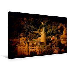 Premium Textil-Leinwand 90 x 60 cm Quer-Format Stadtansicht Zschopau   Wandbild, HD-Bild auf Keilrahmen, Fertigbild auf hochwertigem Vlies, Leinwanddruck von Heike Hultsch von Hultsch,  Heike