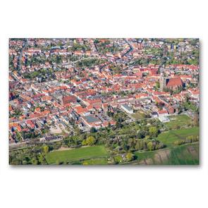 Premium Textil-Leinwand 90 x 60 cm Quer-Format Stadtzentrum Jüterbog (Luftbild) | Wandbild, HD-Bild auf Keilrahmen, Fertigbild auf hochwertigem Vlies, Leinwanddruck von Mario Hagen