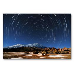Premium Textil-Leinwand 90 x 60 cm Quer-Format Sterne überm Teide   Wandbild, HD-Bild auf Keilrahmen, Fertigbild auf hochwertigem Vlies, Leinwanddruck von Raico Rosenberg