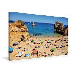 Premium Textil-Leinwand 90 x 60 cm Quer-Format Strand bei Lagos in Algarve, Portugal | Wandbild, HD-Bild auf Keilrahmen, Fertigbild auf hochwertigem Vlies, Leinwanddruck von Val Thoermer von Thoermer,  Val