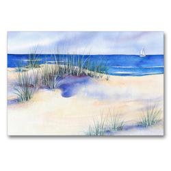 Premium Textil-Leinwand 90 x 60 cm Quer-Format Strand | Wandbild, HD-Bild auf Keilrahmen, Fertigbild auf hochwertigem Vlies, Leinwanddruck von Jitka Krause