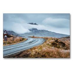 Premium Textil-Leinwand 90 x 60 cm Quer-Format Straßen von Skye | Wandbild, HD-Bild auf Keilrahmen, Fertigbild auf hochwertigem Vlies, Leinwanddruck von Fabian Zocher