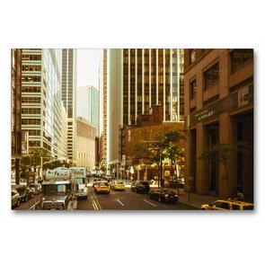 Premium Textil-Leinwand 90 x 60 cm Quer-Format Straßenschluchten in Manhattan | Wandbild, HD-Bild auf Keilrahmen, Fertigbild auf hochwertigem Vlies, Leinwanddruck von Michael Ermel
