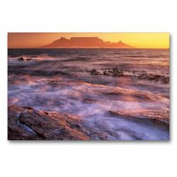 Premium Textil-Leinwand 90 x 60 cm Quer-Format Südafrika Christian Heeb – Familienplaner hoch   Wandbild, HD-Bild auf Keilrahmen, Fertigbild auf hochwertigem Vlies, Leinwanddruck von Christian Heeb
