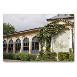 Premium Textil-Leinwand 90 x 60 cm Quer-Format Trinkhalle Bad Harzburg | Wandbild, HD-Bild auf Keilrahmen, Fertigbild auf hochwertigem Vlies, Leinwanddruck von Antje Lindert-Rottke
