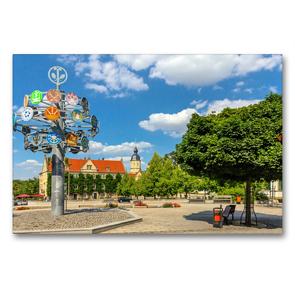 Premium Textil-Leinwand 90 x 60 cm Quer-Format Unterwegs in Riesa | Wandbild, HD-Bild auf Keilrahmen, Fertigbild auf hochwertigem Vlies, Leinwanddruck von Birgit Seifert