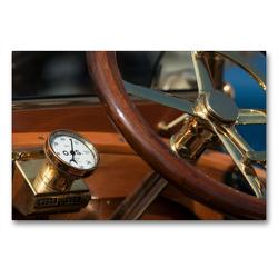 Premium Textil-Leinwand 90 x 60 cm Quer-Format Vintage cars | Wandbild, HD-Bild auf Keilrahmen, Fertigbild auf hochwertigem Vlies, Leinwanddruck von Martina Marten