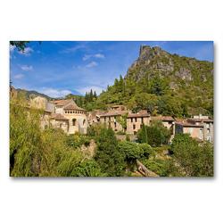 Premium Textil-Leinwand 90 x 60 cm Quer-Format Wallfahrtsort Saint-Guilhelm-le-Désert, Okzitanien | Wandbild, HD-Bild auf Keilrahmen, Fertigbild auf hochwertigem Vlies, Leinwanddruck von N N