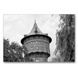 Premium Textil-Leinwand 90 x 60 cm Quer-Format Wasserturm | Wandbild, HD-Bild auf Keilrahmen, Fertigbild auf hochwertigem Vlies, Leinwanddruck von kattobello