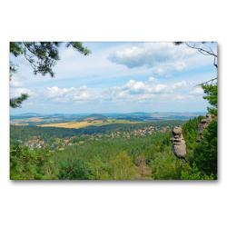 Premium Textil-Leinwand 90 x 60 cm Quer-Format Wie der Fels in der Landschaft | Wandbild, HD-Bild auf Keilrahmen, Fertigbild auf hochwertigem Vlies, Leinwanddruck von Fotografin Renate