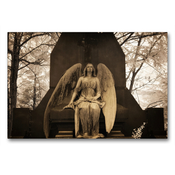 Premium Textil-Leinwand 90 x 60 cm Quer-Format your guardian angel – Dein Schutzengel für jeden Tag | Wandbild, HD-Bild auf Keilrahmen, Fertigbild auf hochwertigem Vlies, Leinwanddruck von Oliver Buchmann