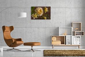 Premium Textil-Leinwand 90 x 60 cm Quer-Format Zauberhafte Rosen | Wandbild, HD-Bild auf Keilrahmen, Fertigbild auf hochwertigem Vlies, Leinwanddruck von Andrea Potratz