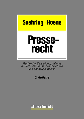 Presserecht von Hoene,  Verena, Soehring,  Jörg