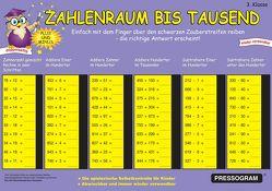 PRESSOGRAM Zaubertafel – Zahlenreihe bis 1000 – Grundschule Klasse 3 von Stubenrauch,  Bernhard