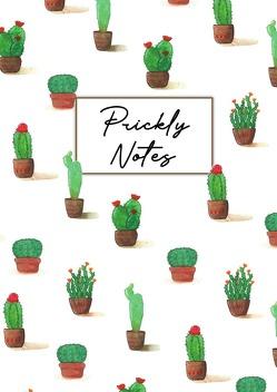 Prickly Notes Notizbuch, Bullet Journal, Handlettering, Skizzenbuch, Zeichenbuch, Tagebuch (A5, 150 Dotted Seiten in Creme, Hardcover) von Illustration,  Farbspatz