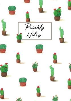 Prickly Notes Ringbuch, Bullet Journal, Handlettering, Notizbuch, Skizzenbuch, Zeichenbuch, Tagebuch (A5, 150 Dotted Seiten in Creme, Ringbindung) von Illustration,  Farbspatz
