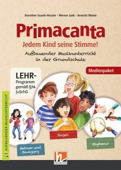 Primacanta. Medienpaket (Audio-CD und DVD+) von Graefe-Hessler,  Dorothee, Jank,  Werner, Marke,  Annette