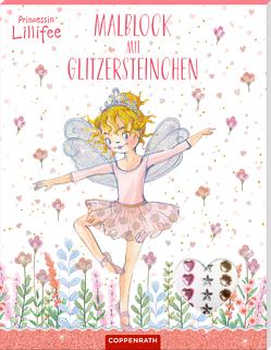 Prinzessin Lillifee: Malblock mit Glitzersteinchen von Monika Finsterbusch