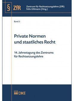 Private Normen und staatliches Recht von Uhlmann,  Felix
