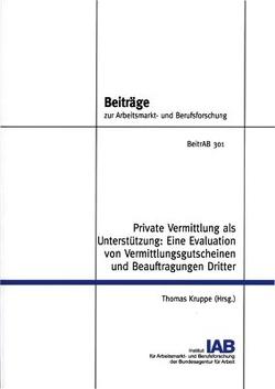 Private Vermittlung als Unterstützung von Kruppe,  Thomas