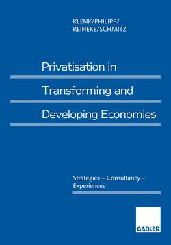 Privatisation in Transforming and Developing Economies von Klenk,  Jürgen, Philipp,  Christine, Reineke,  Rolf-Dieter, Schmitz,  Norbert