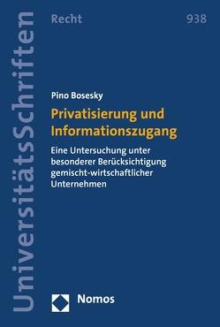 Privatisierung und Informationszugang von Bosesky,  Pino