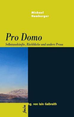 Pro Domo von Galbraith,  Iain, Hamburger,  Michael