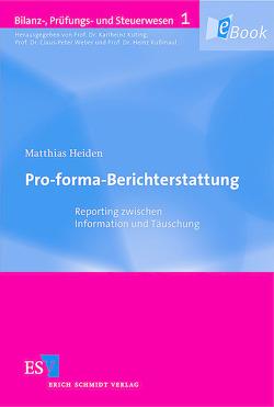 Pro-forma-Berichterstattung von Heiden,  Matthias