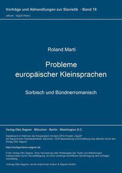 Probleme europäischer Kleinsprachen von Marti,  Roland