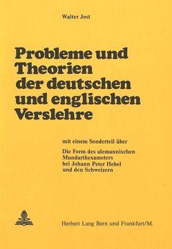Probleme und Theorien der deutschen und englischen Verslehre von Jost,  Walter