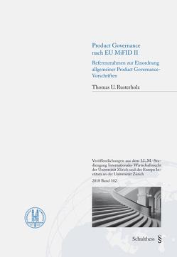 Product Governance nach EU MiFID II von Rusterholz,  Thomas U.