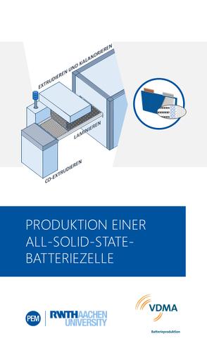 Produktion einer All-Solid-State-Batteriezelle von Heimes,  Heiner, Kampker,  Achim, Michaelis,  Sarah, Rahimzei,  Ehsan, Schön,  Christoph, vom Hemdt,  Ansgar