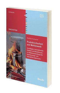 Produktsicherheit und Wettbewerb von Honnacker,  Matthias